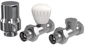 Термостатический вентиль Royal Thermo Набор термостатический прямой DE LUXE (хром) 1/2