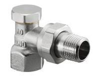 Запорно-балансировочный вентиль Oventrop Combi 2 DN-15 1/2  ВН угловой НГ со штуцером