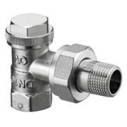 Запорно-балансировочный вентиль Oventrop Combi 3 DN-15 1/2  ВН угловой НГ со штуцером
