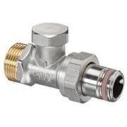 Запорно-балансировочный вентиль Oventrop Combi 2 DN-15 3/4  1/2  Н ЕК-Н НГ со штуцером