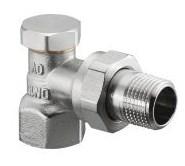Запорно-балансировочный вентиль Oventrop Combi 2 DN-20 3/4  ВН угловой НГ со штуцером