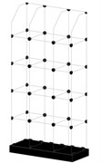 Витрина стеклянная Кубики Ст-3п черн.