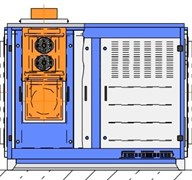 Газовый канальный воздухонагреватель ВТР Н 100