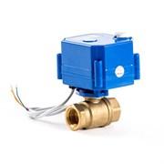 Кран шаровой с электроприводом AquaBast - 1/2  (ВР/ВР, PN40, Tmax 100°C, вр.закр. 10 cек)