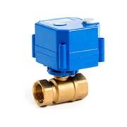 Кран шаровой с электроприводом AquaBast - 3/4  (ВР/ВР, PN40, Tmax 100°C, вр.закр. 10 cек)