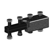 Коллектор котельной разводки Meibe Поколение 8 - 1 1/2 на 7 контуров 1 1/2 (85 кВт, черная сталь)