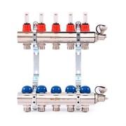Коллекторная группа для теплого пола Uni-Fitt 440E - 1  на 5 контуров 3/4  евроконус