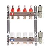 Коллекторная группа для теплого пола Uni-Fitt 450A - 1  на 3 контура 3/4  евроконус