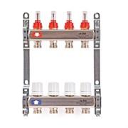Коллекторная группа для теплого пола Uni-Fitt 450B - 1  на 7 контуров 3/4  евроконус