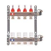 Коллекторная группа для теплого пола Uni-Fitt 450I - 1  на 4 контура 3/4  евроконус