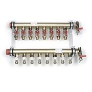 Коллекторная группа для радиаторного отопления REHAU IVK - 1 1/4 на 9 контуров 3/4  Евроконус