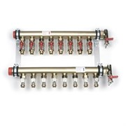 Коллекторная группа для радиаторного отопления REHAU IVKK - 1 1/2 на 2 контура 3/4  Резьбозажимное