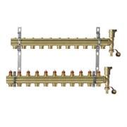 Коллекторная группа для радиаторного отопления Danfoss FHF set - 1  на 11 контуров 3/4 Евроконус