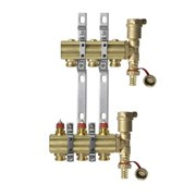 Коллекторная группа для радиаторного отопления Danfoss FHF set - 1  на 3 контура 3/4 Евроконус