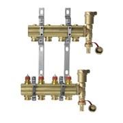 Коллекторная группа для радиаторного отопления Danfoss FHF set - 1  на 4 контура 3/4 Евроконус