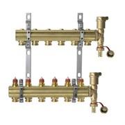 Коллекторная группа для радиаторного отопления Danfoss FHF set - 1  на 6 контуров 3/4 Евроконус