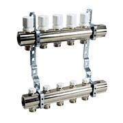 Коллекторная группа для радиаторного отопления LUXOR CD 468 - 1  на 5 контуров 3/4  Евроконус