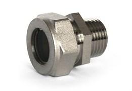 Муфта переходная латунная Stahlmann (M) 20х3/4 EF с никелевым покрытием