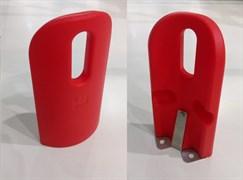 Высокий угловой отбойник Italmodular (красный цвет)