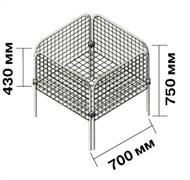 Накопитель с регулируемым дном 700х700х750 (хром)