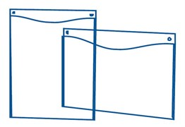 Настенная подставка А4 горизонтальная