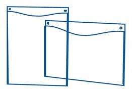 Настенная подставка А4 вертикальная