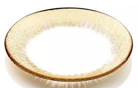Тарелка IVV ORIZZONTE 28 см (золотая отделка)