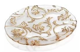 Блюдо овальное IVV GOLD 39х33 см (золотая отделка)