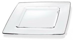 Тарелка IVV ARIA 33х33 см (прозрачная)