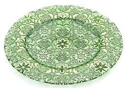 Тарелка IVV ARABESQUE 32 см (нефритово-зеленая)