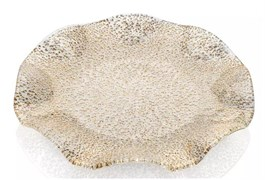 Блюдо зубчатое с золотой отделкой IVV SPECIAL 41 см