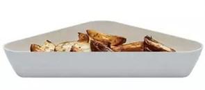 Салатник треугольный Cambro SFT1515 4,2 л (белый / черный)
