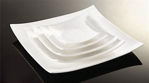 Тарелка обеденная квадратная Fairway 26 см (фарфор)