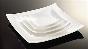 Тарелка десертная квадратная Fairway 20 см (фарфор)