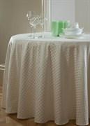 Скатерть круглая Astinn Rombo (шампанское) D=155 см (подгиб 1 см)