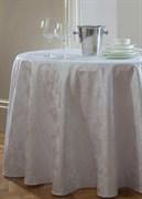 Скатерть круглая Astinn Barocco Scandinavia (белая) D=160 см (подгиб 1 см)