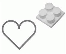 Выталкиватель из формы Paderno (сердце) 4 шт